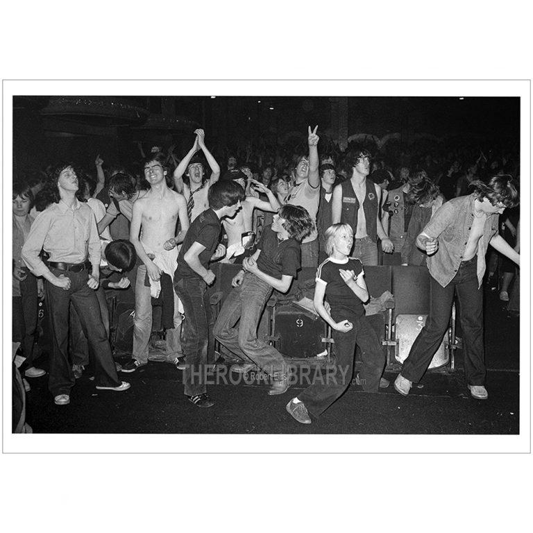 AC/DC, fans at Glasgow Apollo Theatre, Scotland, Highway To Hell Tour, October 27 1979, 7910008002 ©1979 Robert Ellis